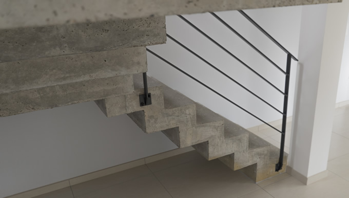 scal 39 in escalier b ton cr maill re dans le d partement de la loire. Black Bedroom Furniture Sets. Home Design Ideas