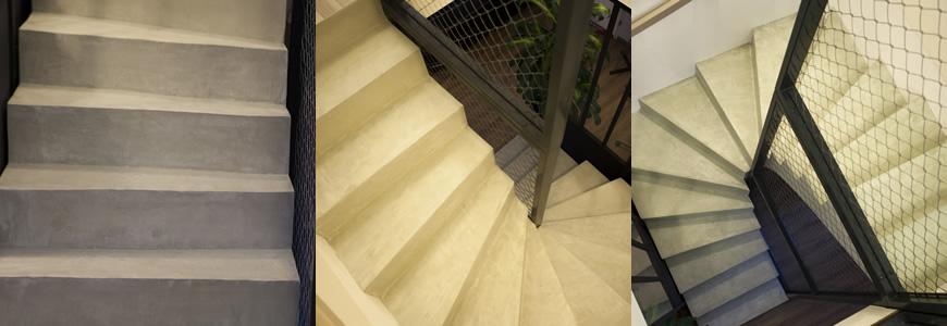 escalier Scal'in en béton ciré Haute-Garonne
