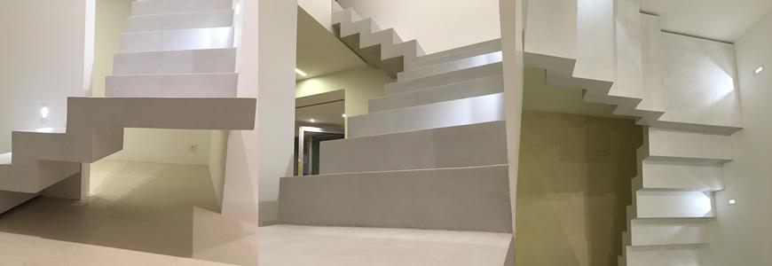 Escalier en béton ciré Paliers intermédiaire dans la région de Bordeaux