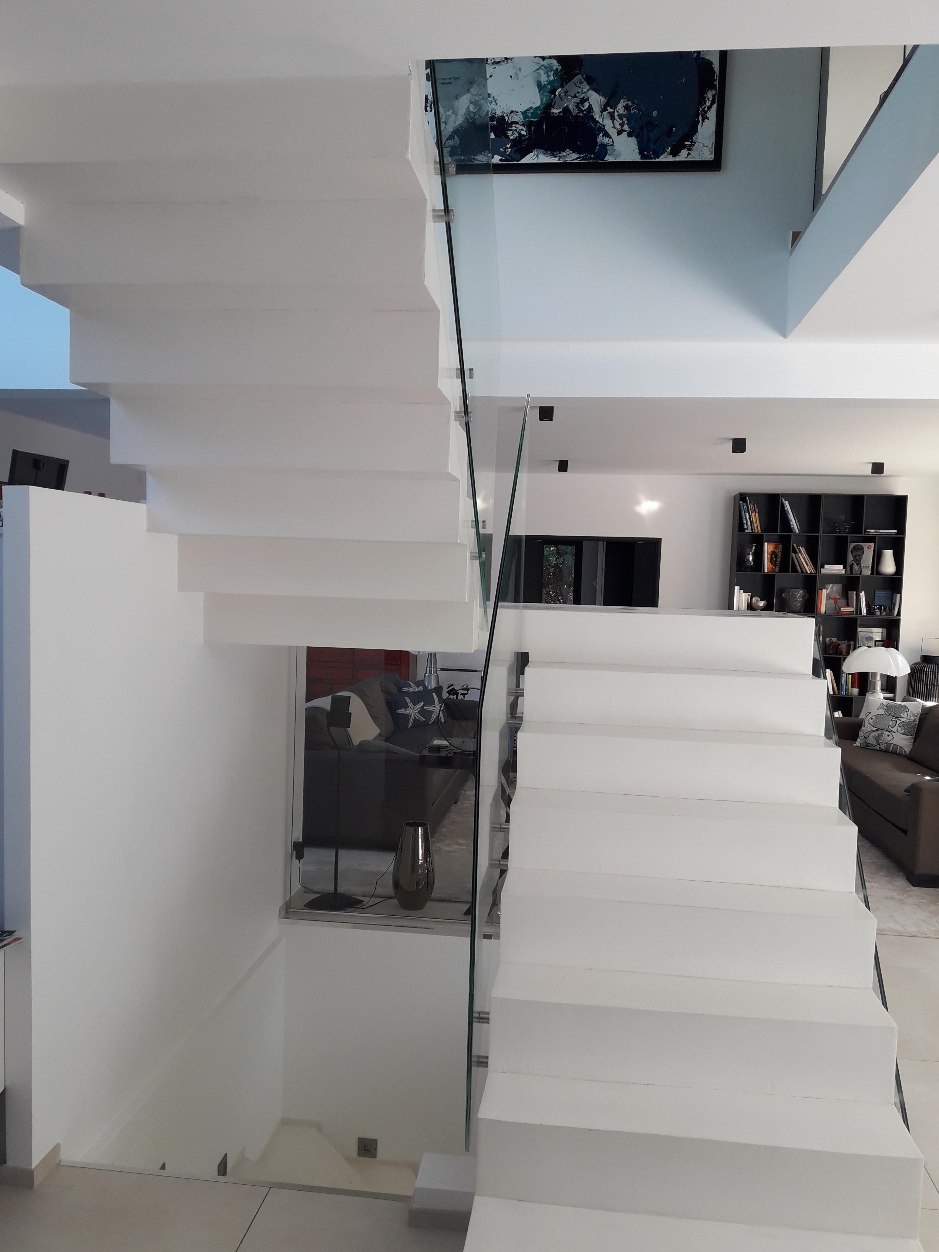 Escalier Interieur Beton Design construction de gardes corps inox et béton - scal'in