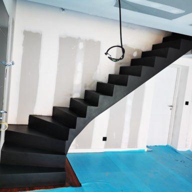 Beton cire dans une maison en construction