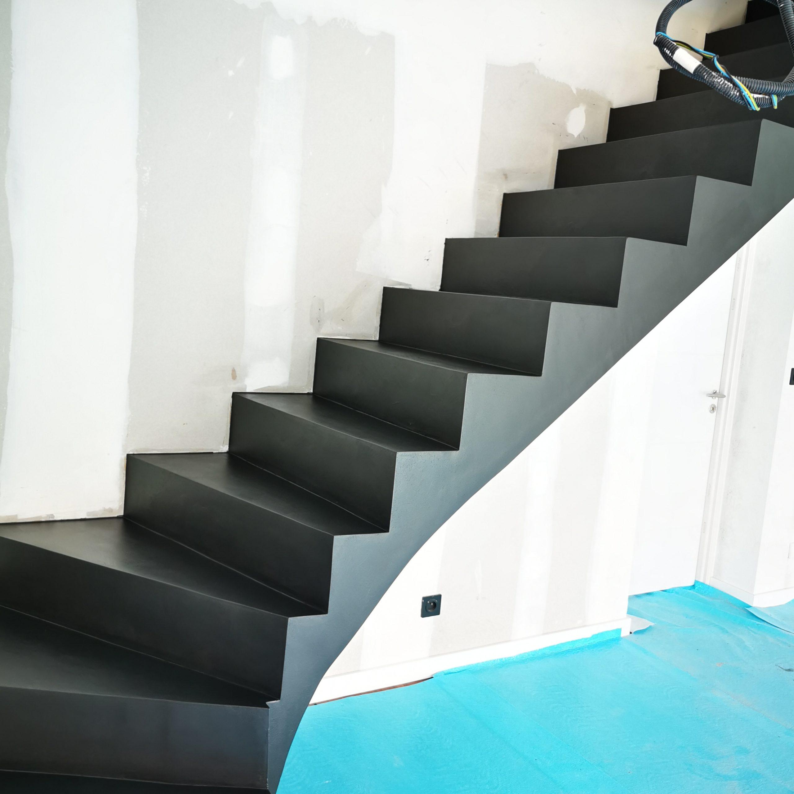 Beton cire sur un escalier intérieur