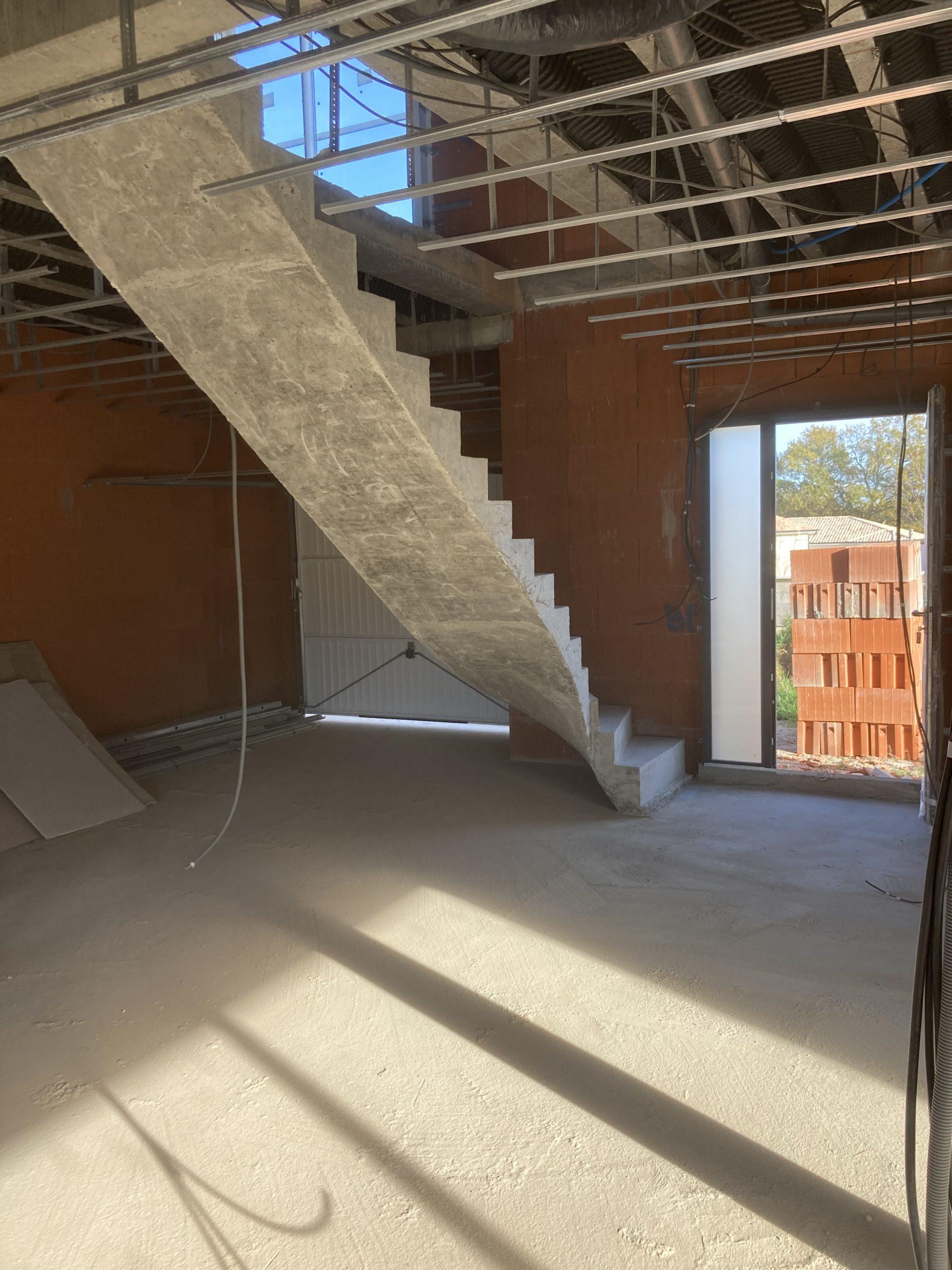Construire un escalier béton tournant