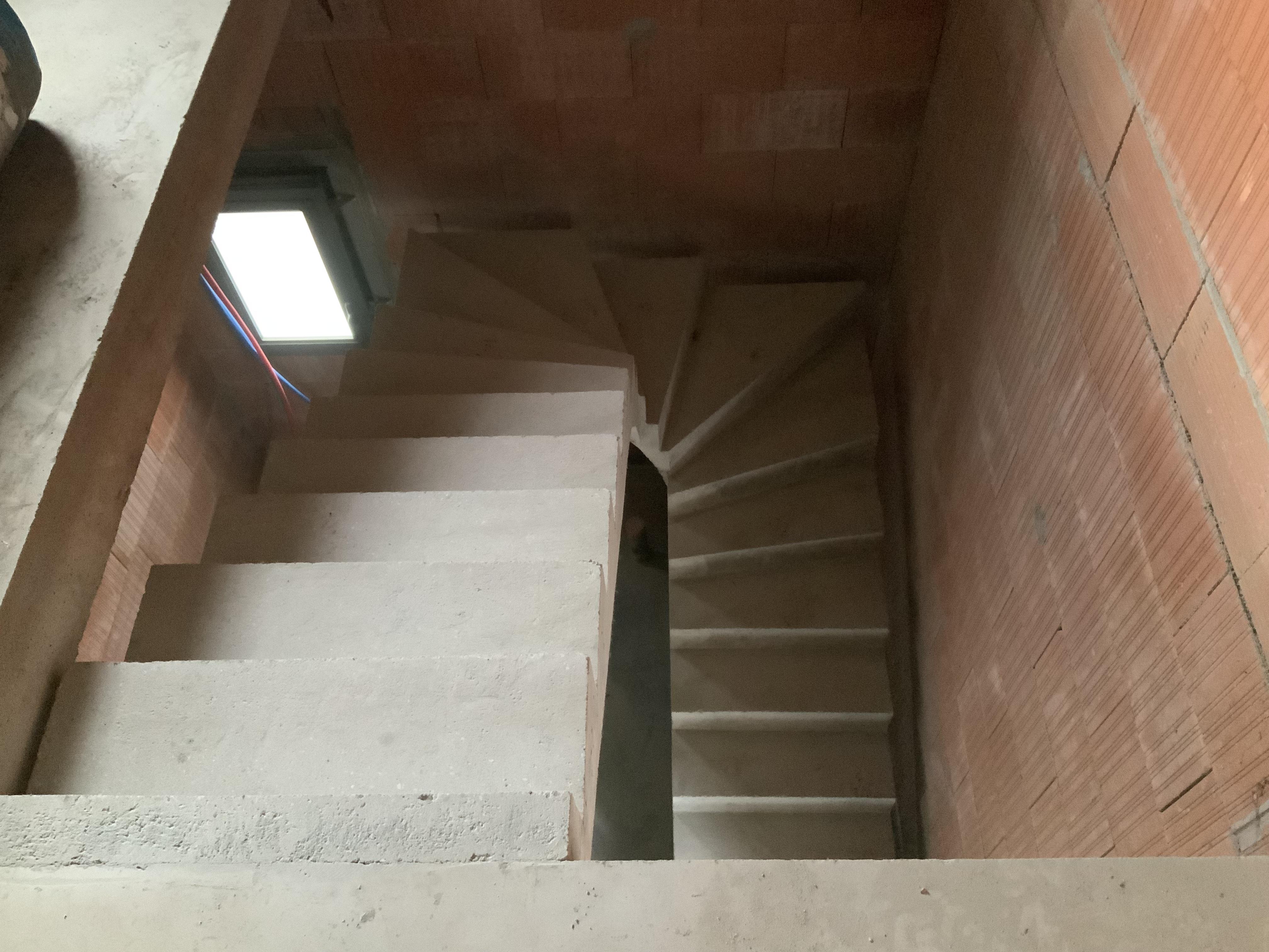 Dessus de marches d'un escalier