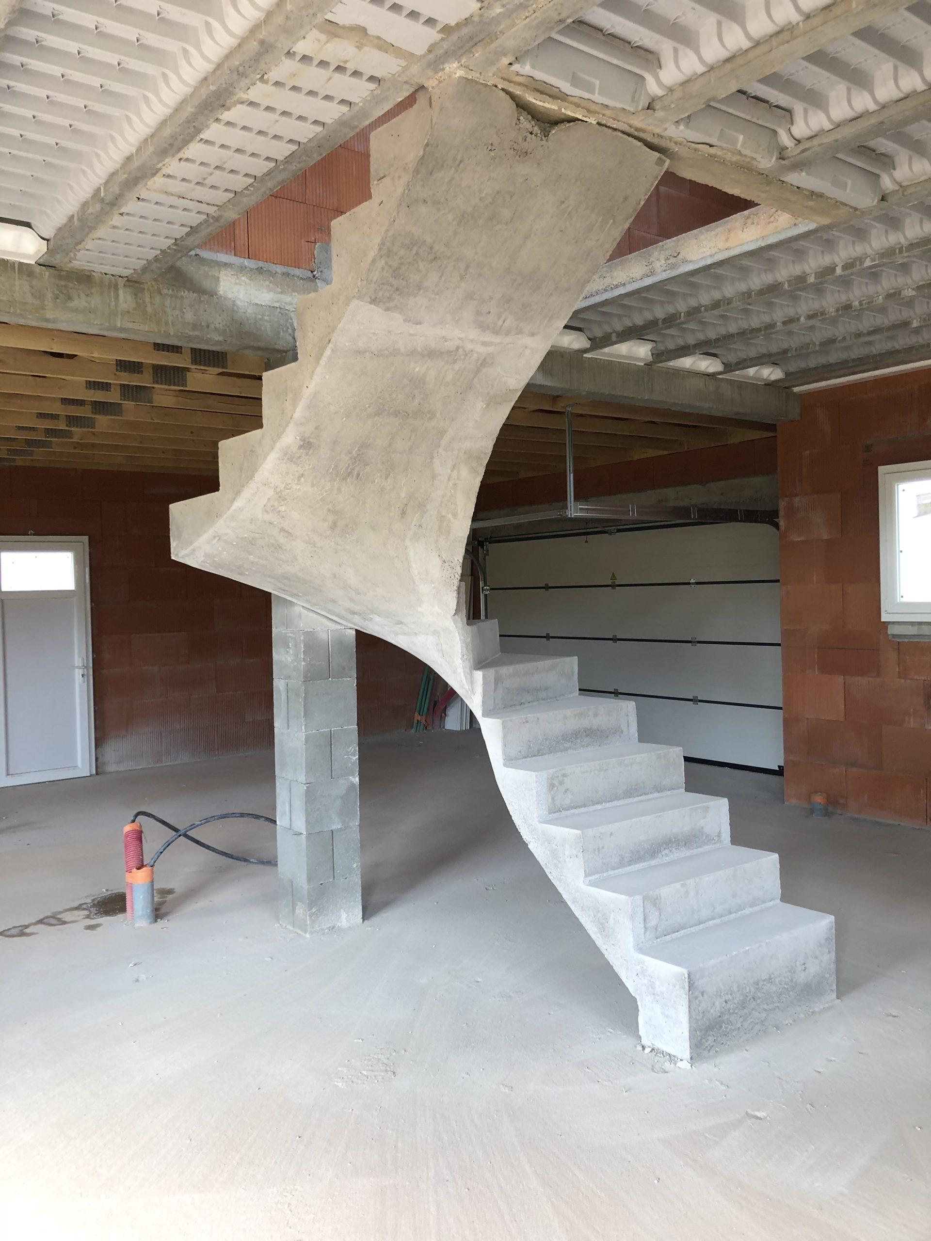 escalier à paillasse dans le Limousin
