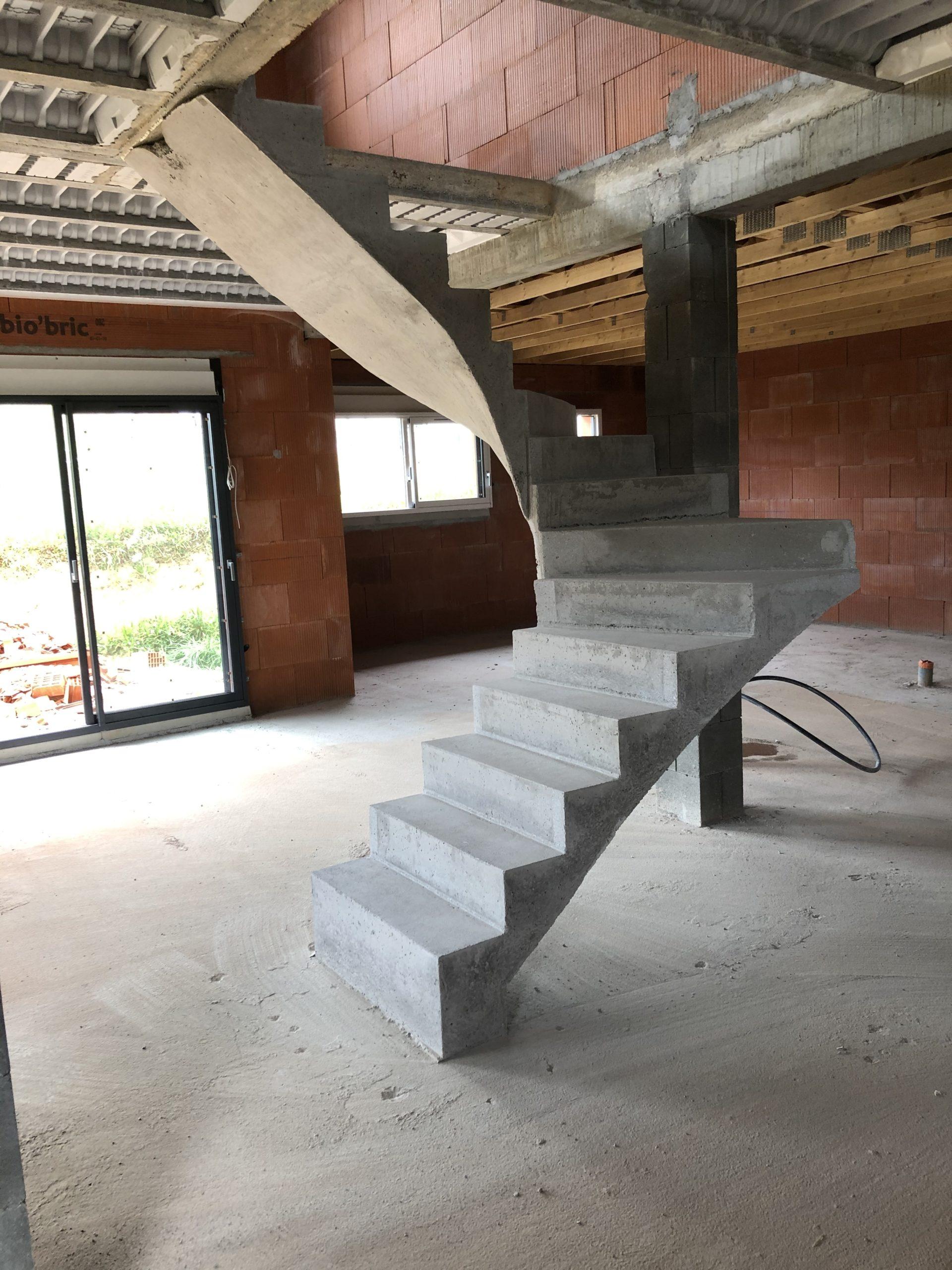 escalier béton à Limoges