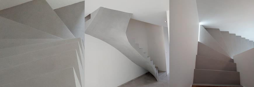 Escalier béton à paillasse réalisé en Aquitaine