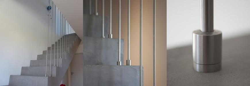 escalier Scal'in et garde-corps inox harpe Avignon