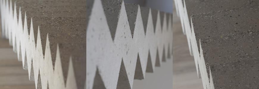 Escalier en béton graphique dans la Métropole de Lyon