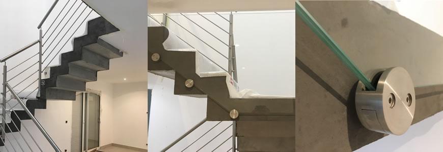 escalier scalin garde-corps inox à valence