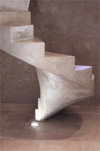Escalier béton sur mesure en colimaçon