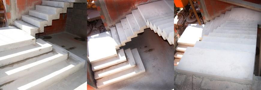 Escalier en crémaillère, premières marches royales à angles droits