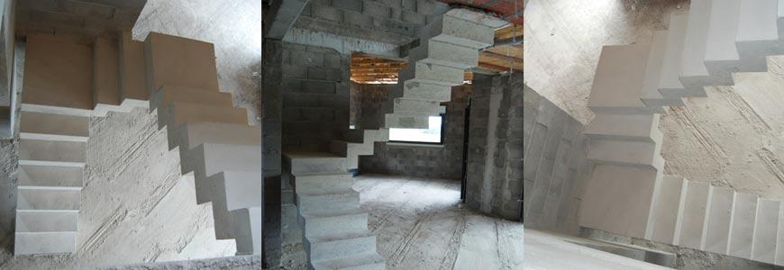 Escalier béton intérieur à crémaillère