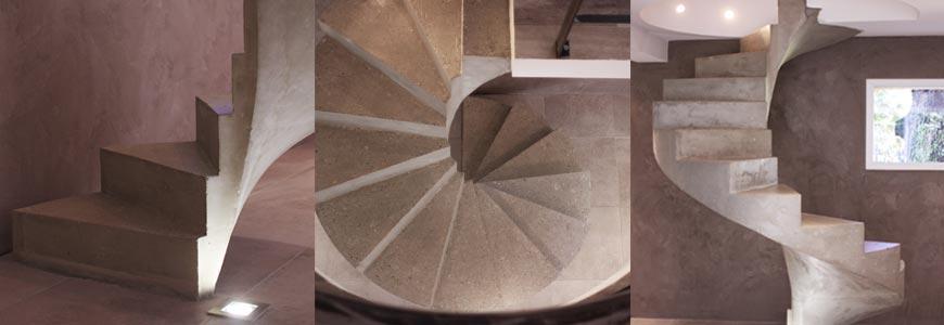 Escalier hélicoïdal suspendu