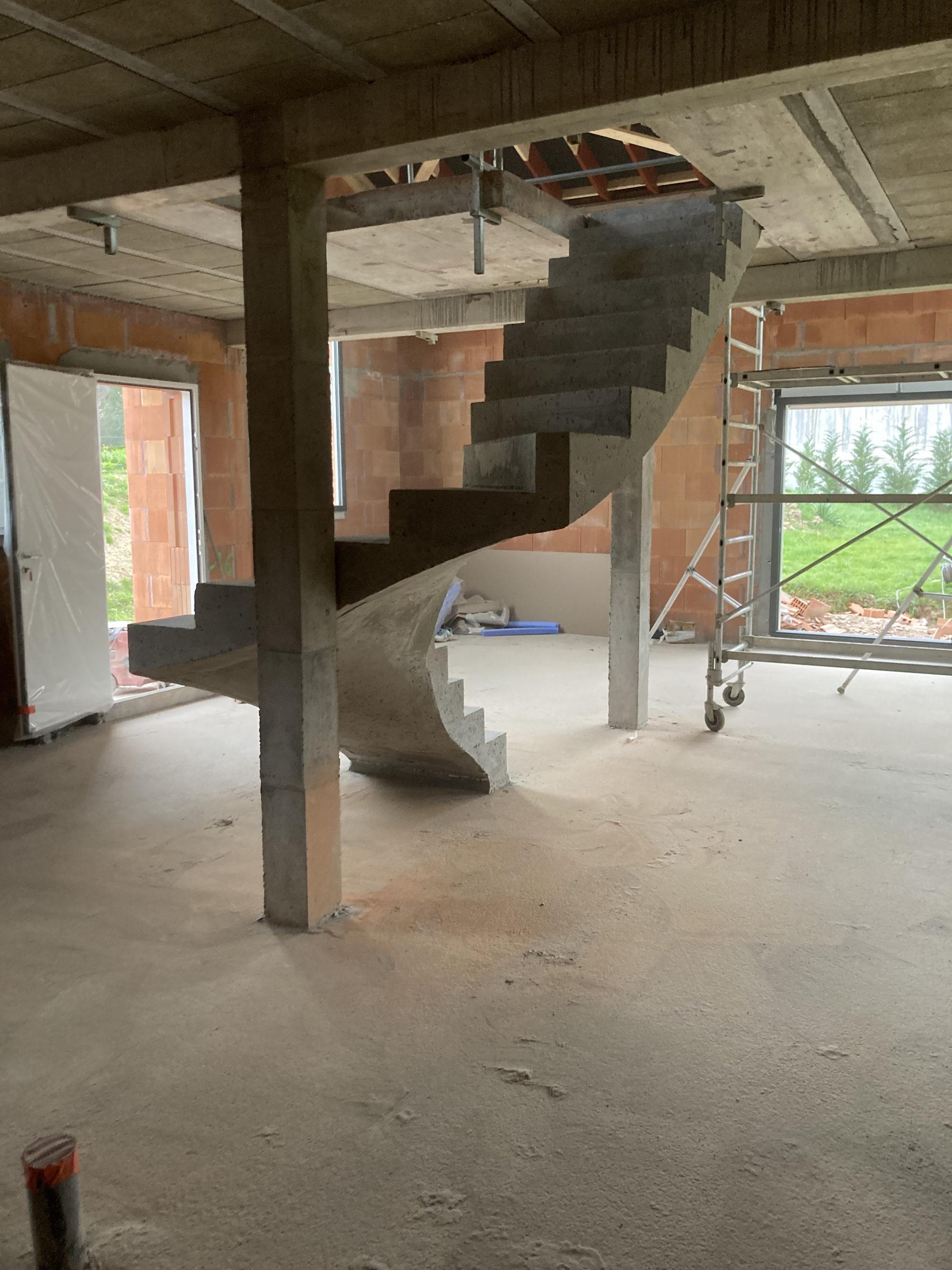 réalisation d'un escalier béton près de Saint Jean de Luz